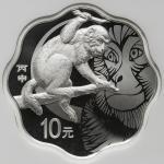 2016年丙申(猴)年生肖纪念银币31.104克(1盎司)梅花形 NGC PF 69