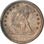 1874-S Liberty Seated Quarter. Arrows. Briggs 1-A. MS-66 (PCGS).