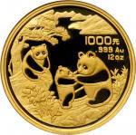 1993年熊猫纪念金币5盎司 NGC PF 69