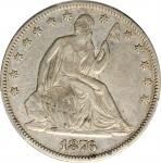 1876-CC Liberty Seated Half Dollar. WB-15. Rarity-3. Medium CC, Repunched Mintmark. VF-30 (PCGS).