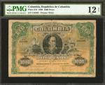 COLOMBIA. República de Colombia. 1000 Pesos. March 1908. P-316. PMG Fine 12 Net.
