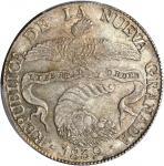 COLOMBIA. 1839-RS 8 Reales. Bogotá mint. Restrepo 194.1. MS-62 (PCGS).