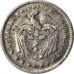 COLOMBIA. 1863 Peso. Popayán mint. Restrepo 316.1. EF Detail — Cleaned (PCGS).