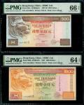 1997年香港汇丰银行一组8枚,500元及1000元各4枚,组成4对编号相乎组合,分别AA215613,AA215770,AA215771及AA215773,介乎PMG 64EPQ 至67EPQ