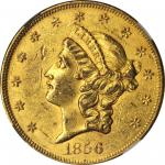 1856 Liberty Head Double Eagle. AU-58 (NGC).