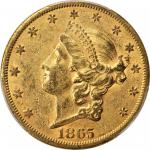 1865-S Liberty Head Double Eagle. AU-58 (PCGS).