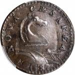 1787 New Jersey Copper. Maris 46-e, W-5250. Rarity-1. Clashed Die. AU-58+ (PCGS).