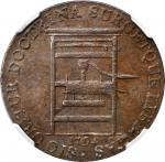 1794 Franklin Press Token. W-8850. Rarity-1. Plain Edge. MS-63 BN (NGC).