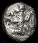 ACHAEMENID Empire アケメネス朝ペルシア AR Siglos ca450~330BC chopmarks 加刻印数ヶ F~VF chopmarks 加刻印数ヶ F~VF