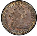 1803 Draped Bust Half Dollar. Overton-101. Rarity-3. Large 3. MS-63 (PCGS).PCGS Population: 3, 1 fin