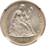 1860 Liberty Seated Dime. NGC MS67