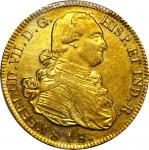 COLOMBIA. 1816-F-Pn 8 Escudos. Popayán mint. Ferdinand VII (1808-1833). Restrepo M128.24. AU-55 (PCG