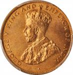 1933年香港一仙。伦敦造币厂。HONG KONG. Cent, 1933. London Mint. PCGS MS-67 Red Gold Shield.