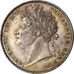 1821年半圆 GREAT BRITAIN. 1/2 Crown, 1821. George IV. PCGS MS-64 Gold Shield.