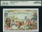 Bank des Etats de LAfrique Centrale, Republique de Tchad, 5000 francs, 1 January 1980, serial number