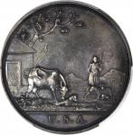 1796 (1798) Washington Seasons Medal. The Shepherd. Silver. 48.2 mm. 46.7 grams, 719.3 grains. Musan