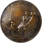 1886 Franco-American Union Auguste Bartholdi Medal. Matte Bronze. 68.5 mm. By Oscar Roty. Maier-92.