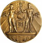 Netherlands. 1928 Olympic Games, Amsterdam, Participation Medal. Bronze. 55.4 mm. Gad-1928-2. About