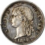 COLOMBIA. 1848 pattern 4 Pesos. Popayán mint. Restrepo P48. Silver. SP-64 (PCGS).