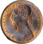 GREAT BRITAIN. Penny, 1890. London Mint. Victoria. NGC MS-66 Brown.