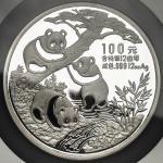 1990年熊猫纪念银币12盎司 NGC PF 69