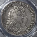 GREAT BRITAIN William&Mary ウィリアム&メアリー(1688~94) Crown 1692 PCGS-XF40  VF+