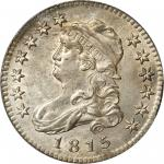 1815 Capped Bust Quarter. B-1, the only known dies. Rarity-1. MS-63 (PCGS).