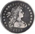 1795 Draped Bust Silver Dollar. BB-51, B-14. Rarity-2. Off-Center Bust. VF-20 (PCGS).