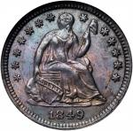 1849 Liberty Seated Half Dime. MS-64 (NGC). OH.