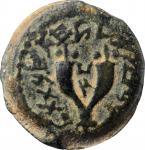 JUDAEA. Hasmoneans. Mattathias Antigonos (Mattatayah), 40-37 B.C.E. 8 Prutot, Jerusalem Mint. ANACS