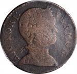 1786 Vermont Copper. RR-9, Bressett 7-F, W-2040. Rarity-4. Baby Head. VG Details--Environmental Dama