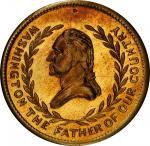 Circa 1876 The 100th Year medal. First obverse. Musante GW-843, Baker-414A. Brass. MS-65 (PCGS).