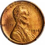 1914 Lincoln Cent. Proof-67 RB (PCGS). CAC.
