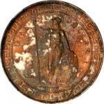 GREAT BRITAIN. Trade Dollars, NGC AU-53-MS-61.