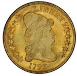 1799 Capped Bust Right Eagle. Bass Dannreuther-10. Rarity-3. Large Obverse Stars. Mint State-65+ (PC