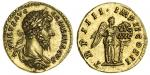 Lucius Verus (AD 161-169), AV Aureus, 7.32g, Rome, 164, laureate, draped and cuirassed bust right, l