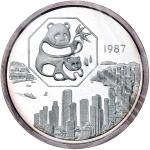1987年第6届香港国际硬币展览会纪念银章5盎司 完未流通