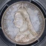 GREAT BRITAIN Victoria ヴィクトリア(1837~1901) 2Florin 1887 PCGS-MS63 UNC