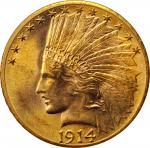 1914-D Indian Eagle. MS-63 (PCGS). OGH--First Generation.