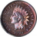 1881 Indian Cent. Proof-65 RB (PCGS).