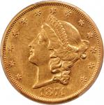 1874-S Liberty Head Double Eagle. Genuine--Cleaned (PCGS).