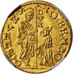 ITALY. Venice. Zecchino, ND. Giovanni Bembo (1615-18). NGC MS-64.
