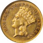 1886 Three-Dollar Gold Piece. MS-61 (PCGS). OGH.