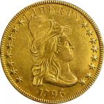 1796 Capped Bust Right Eagle. BD-1, Tarasazka-6, the only known dies. Rarity-4. AU Details--Cleaning