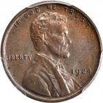 1924-D Lincoln Cent. MS-63 BN (PCGS).