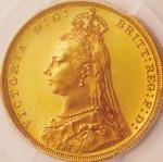 英国 (Great Britain) ヴィクトリア女王像 ジュビリーヘッド 1ソブリン金貨 1887年 KM767 / Victoria Jubilee Head 1 Soverign Gold Pr