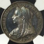 GREAT BRITAIN Victoria ヴィクトリア(1837~1901) Florin 1893 NGC-PF64 トーン Proof UNC+