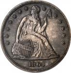 1864 Liberty Seated Silver Dollar. Proof-58 (PCGS).