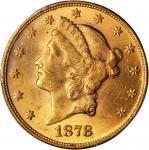1878 Liberty Head Double Eagle. MS-62 (PCGS).