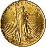 1908 Saint-Gaudens Double Eagle. No Motto. MS-62 (PCGS).
